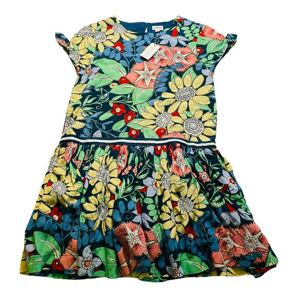 Gymboree Multicolored Floral Dropwaist Dress 7-8